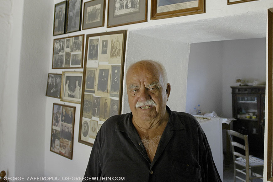 He has framed all of his memories in his home at Agiannis village.