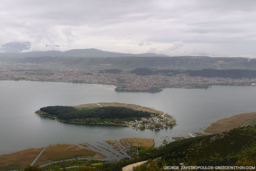 The Island of Ioannina looks like a painting on the waters of Pamvotida lake.