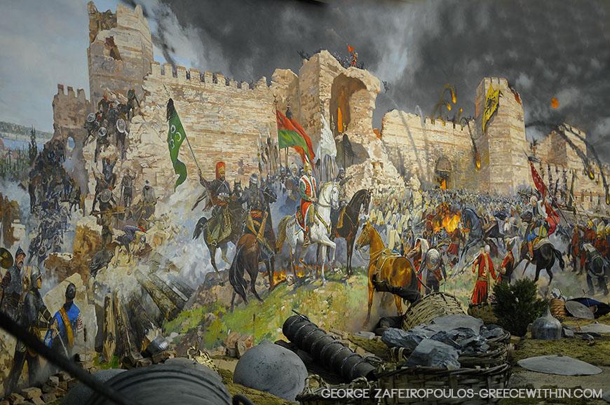 Η πύλη του Ρωμανού, που δέχτηκε τις πιο λυσσαλέες επιθέσεις και τελικά έπεσε.