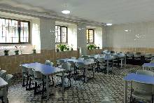 The children eat at the school every day, in a refectory which can only be described as spic and span.