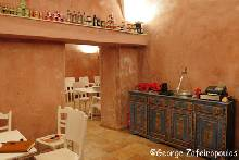 Tavern in Pyrgos of Santorini that cooks food only with local products.