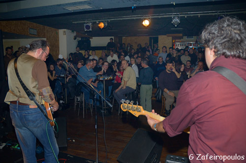 Real blues bands play in close contact with their audience.