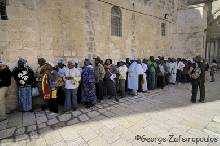 Christians from all over the world create endless queues in order to worship the Holy Grave.