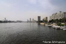 The Nile, as we see it from the bridge next to the archaeological museum.