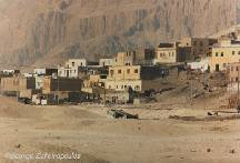 A village in the desert near Luxor.