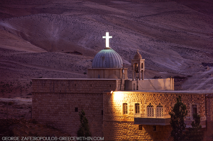 A Christian temple in the dessert outside the village of Maalula.