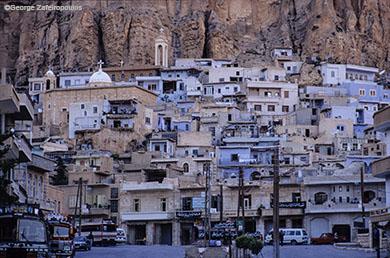 Το χριστιανικό χωριό Μααλούλα 56 χλμ από τη Δαμασκό.