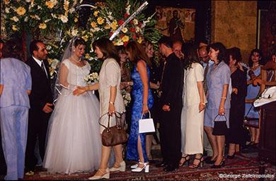Γάμος σε ελληνορθόδοξη εκκλησία στο Χαλέπι.